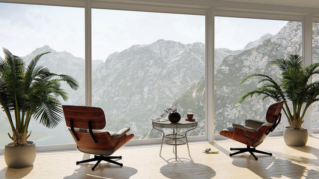 Panorama-Aussicht über Berge